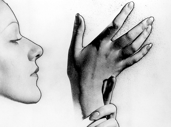 Profile and Hands, 1932, photo by Man Ray