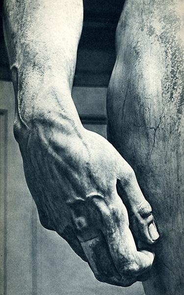David (detail), 1504, by Michelangelo Buonarroti