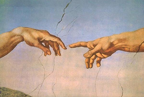 The Creation of Adam (detail), 1512, by Michelangelo Buonarroti