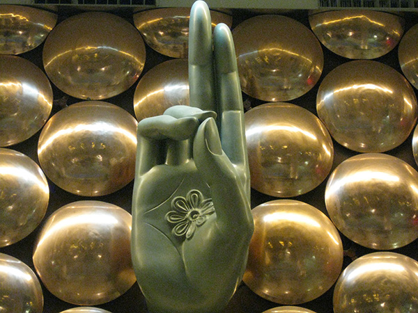 Mudra sculpture in New Delhi Airport (detail), designed by Ayush Kasliwal