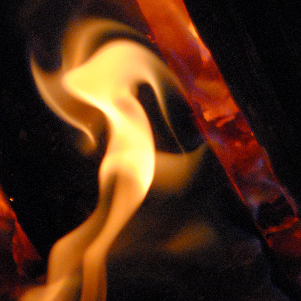 Licking Flames, 2009, photo by Fred Hatt (detail)