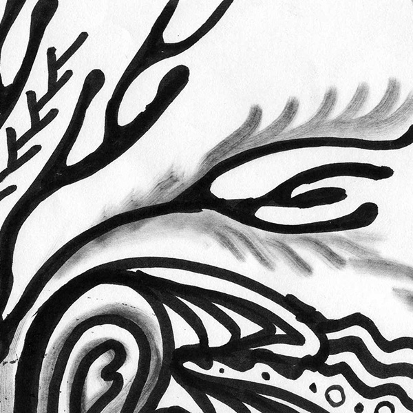 Coral, 2011, doodle by Fred Hatt (detail)