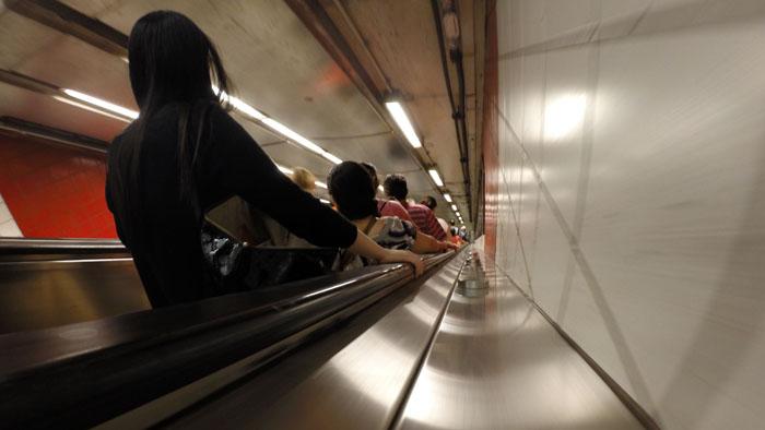 Subway Escalator, 2014, photo by Fred Hatt