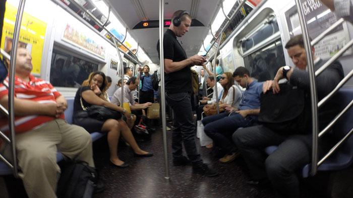 Subway Interior, 2014, photo by Fred Hatt