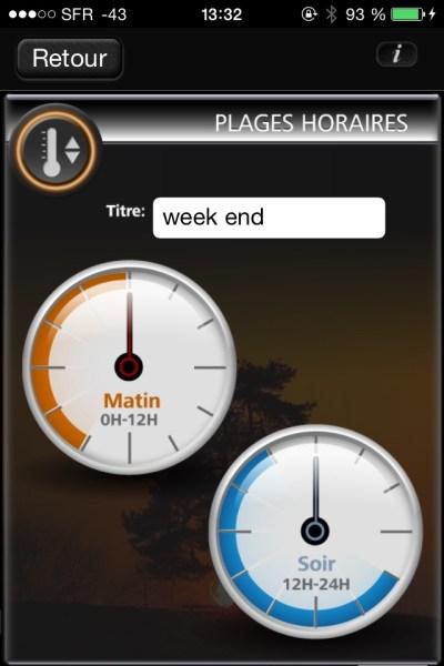 Plages horaires week-end