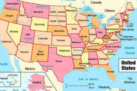 map of us without states labeled pictures to pin on