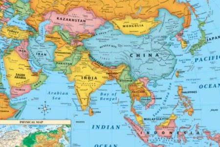 map of asia countries and capitals 4