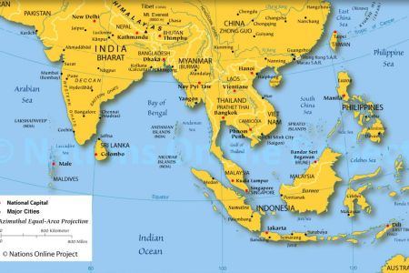 map of southeast asia countries and capitals 2