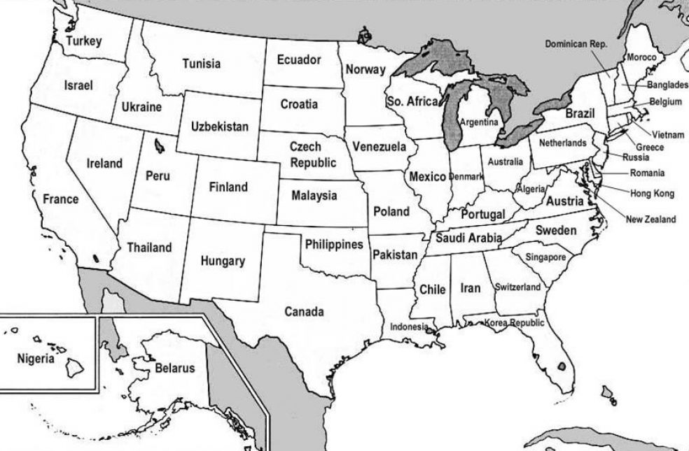 Map Of The United States Of America Royalty Free Stock Images A