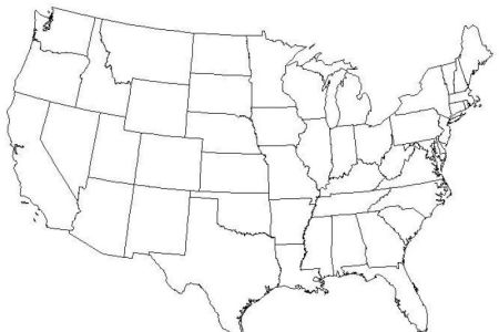 Blank Map Of Usa Blank Map Of Usa Blank Map Of Usa Quiz Blank - Blank map us states