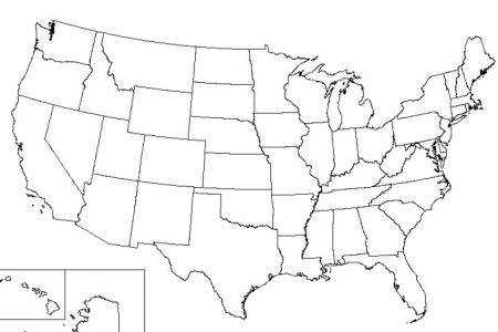 printable united states map with state abbreviations