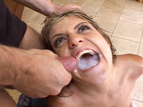 close up cum in mouth