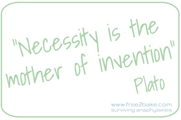 necessity: the mother of invention – inventing free-from recipes