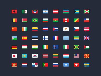 177 Flag Icons