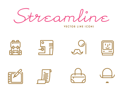 Streamline 100 free icons pack