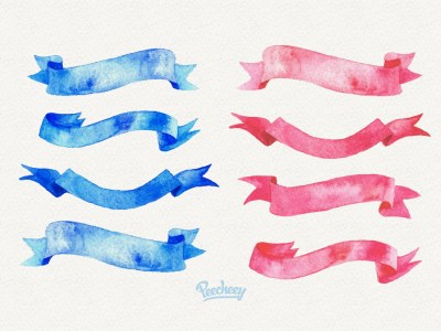 Watercolour Ribbons