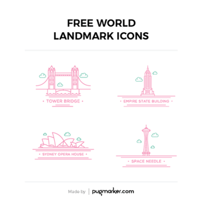 Freebie : World Landmark Icons