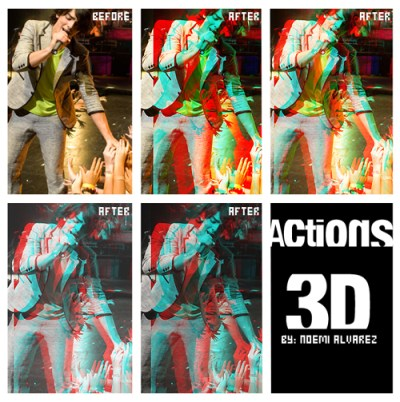 Free Photoshop Action 3D