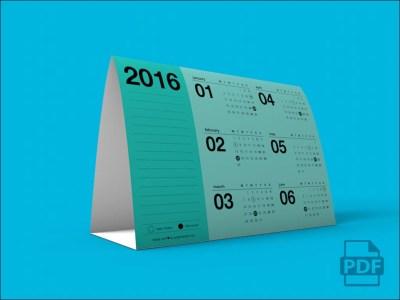 Free PDF Printable 2016 Calendar Template