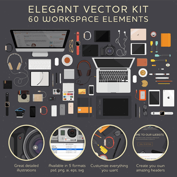 Freebie : A Workspace Illustrations Kit