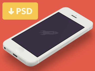 Minimal iPhone 5 (White) Template