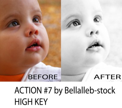 Free Photoshop Action No. 7 High Key