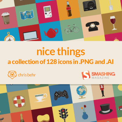 Freebie : Nice Things Icon Set