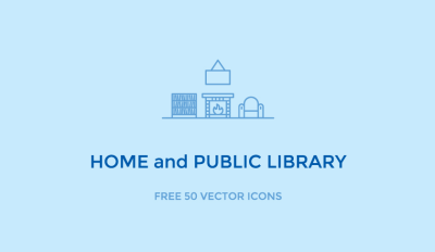 50 Free Home and Public Library Icons