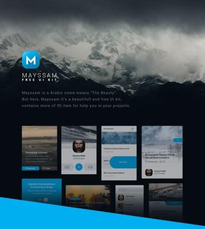 Mayssam – Free UI Kit