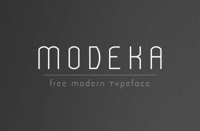 MODEKA – Free Font