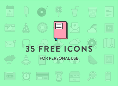 35 Colorful Icons for Free