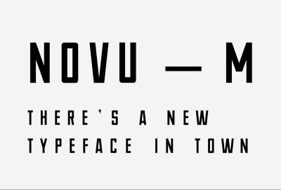 NOVU – M Free Font