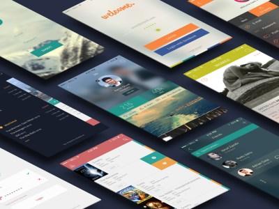 iCollection UI Kit – 38 Free PSD Screens