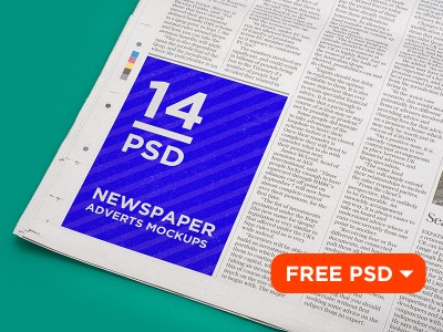 14 Newspaper Adverts Free Mockups