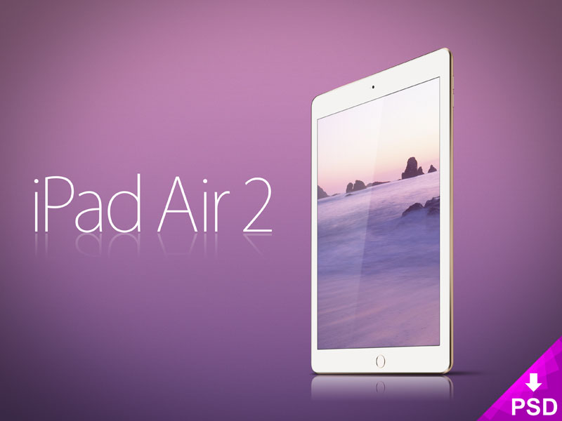 Free Apple iPad Air 2 Mockup