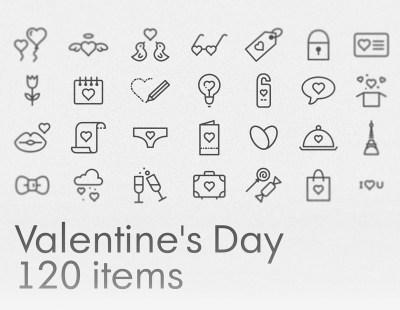 Free Valentine's Day Icons Set
