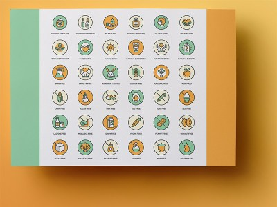 Freebie Allergy Info Cosmetic and Food Icons