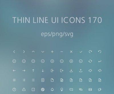 Free Thin Line UI 170 Icons