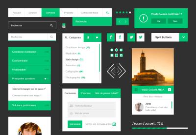 Noha – Free Flat UI Kit