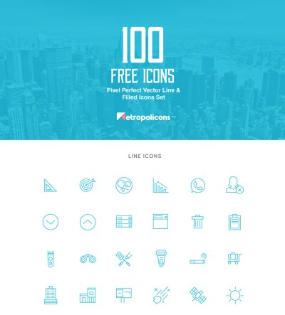 100 Free Vector Lined and Filled Icons