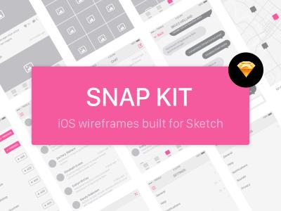 Snap Kit – Free iOS Wireframe Kit