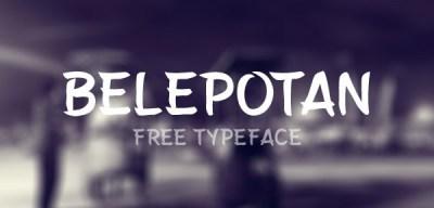 Belepotan – Free Typeface