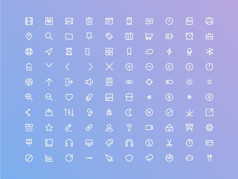 Free Basic Ui Icon Set