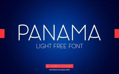Panama – Light Free Font