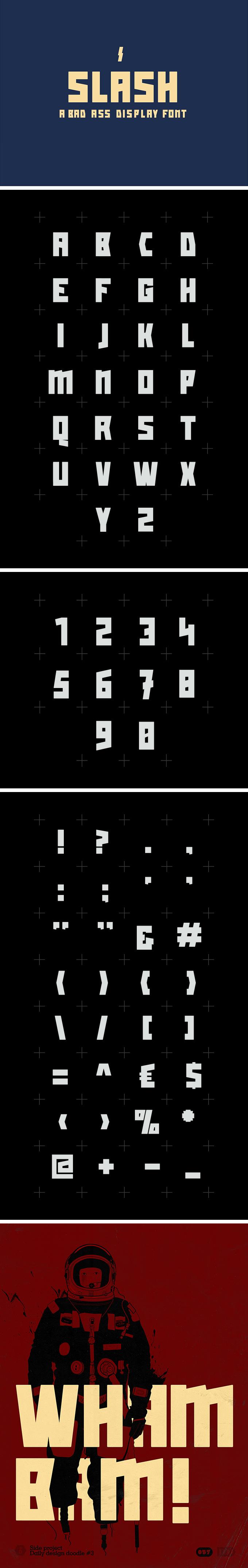 Slash - Free Display Font