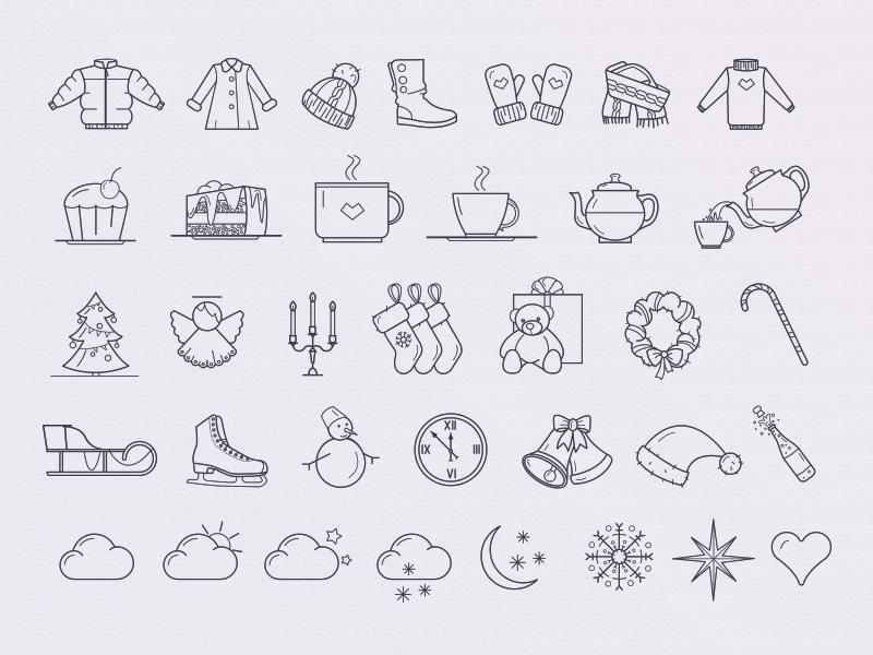Winter Free Icon Set