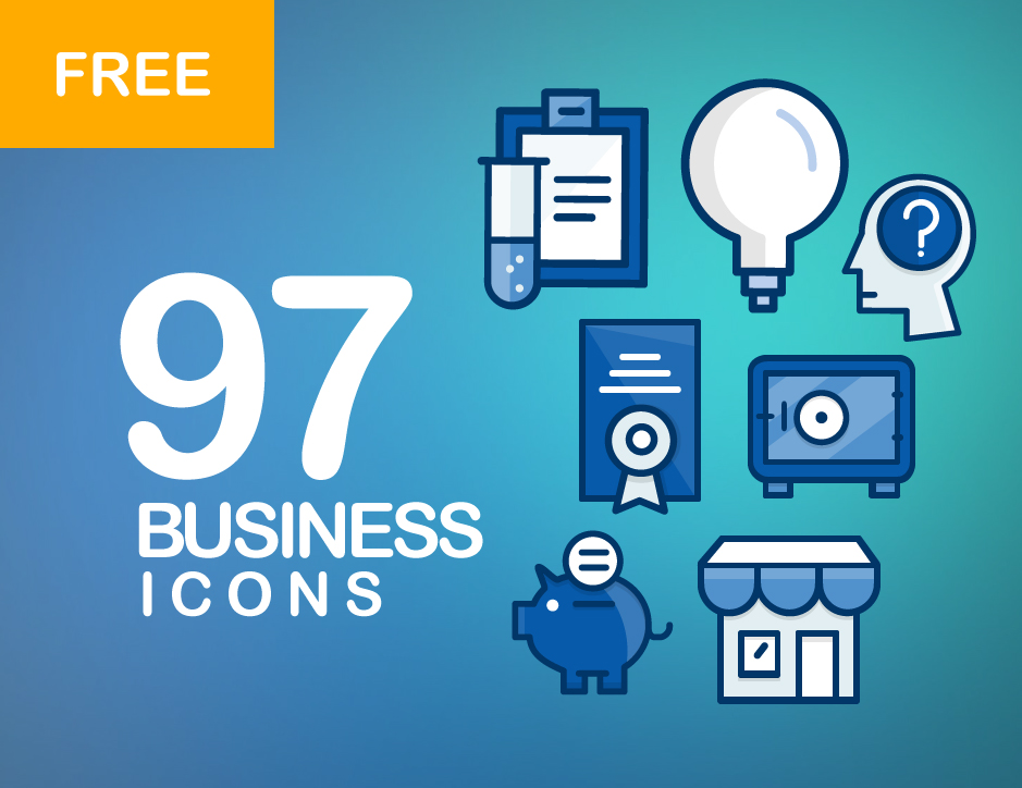 97 free business icons