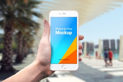 IPhone 6s Plus Outdoor Mockups PSD