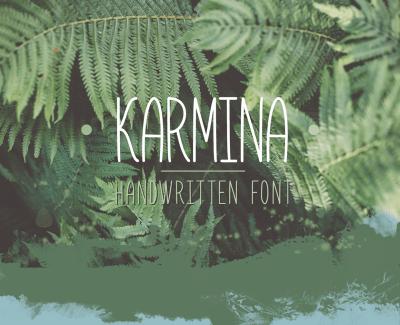 Karmina Handwritten Font – Bold Free