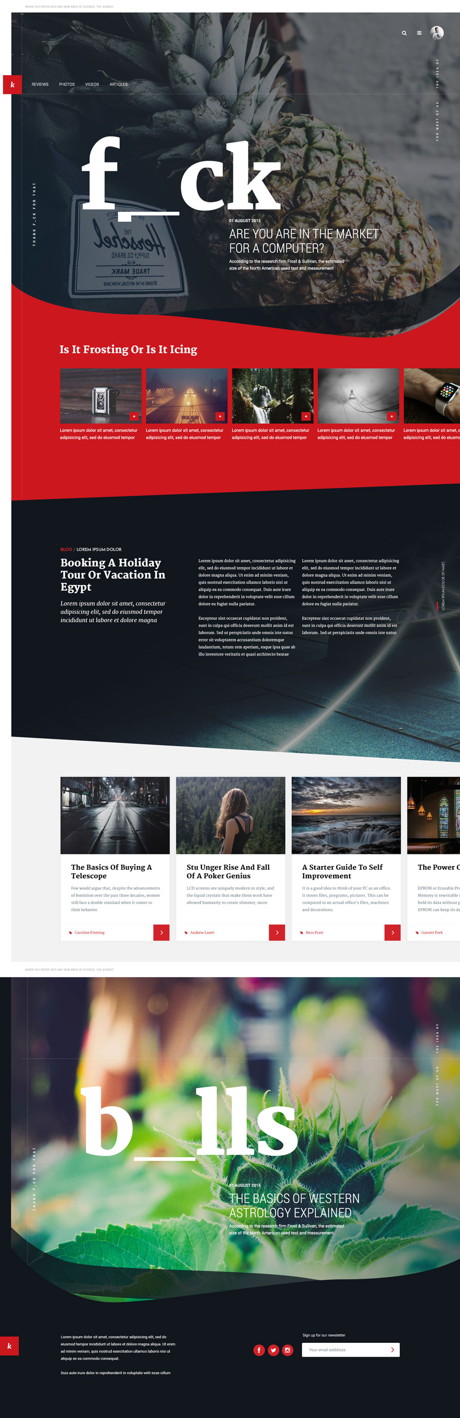 Free Unique Magazine PSD Website Template